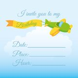 Invitation birthday Royalty Free Stock Photos