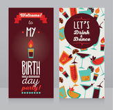 Invitation for birthday party, retro design Royalty Free Stock Image