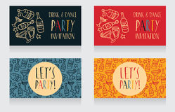 Invitation for birthday party Stock Photography