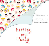 Invitation blank with people for meeting Stock Photo
