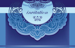 Invitation in blue. Vector background for the cove Royalty Free Stock Photography