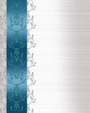 Invitation Border Blue satin Royalty Free Stock Photo