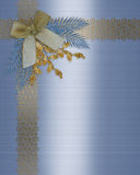 Invitation border elegant winter wedding Stock Photos