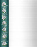 Invitation Border white wedding roses Royalty Free Stock Photo