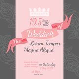 Invitation bridal shower card with rose flower Stock Image