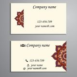 Invitation, business card or banner with text template. Round fl Royalty Free Stock Photos