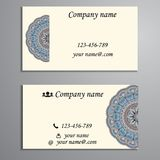 Invitation, business card or banner with text template. Round fl Stock Image