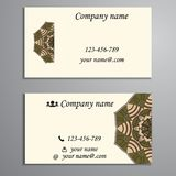 Invitation, business card or banner with text template. Round fl Stock Photos