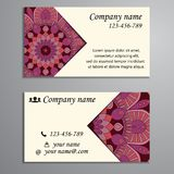 Invitation, business card or banner with text template. Round fl Royalty Free Stock Photography