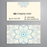 Invitation, business card or banner with text template. Round fl Stock Photography