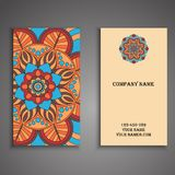 Invitation, business card or banner with text template. Round  Stock Photos