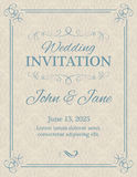 Invitation with calligraphy design elements Stock Photo