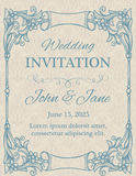 Invitation with calligraphy design elements Royalty Free Stock Image