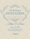 Invitation with calligraphy design elements Royalty Free Stock Images