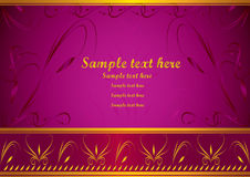 Invitation card. Or decorative banner with scrolls stock illustration