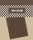 Invitation card. Retro invitation card. (EPS8 file included Stock Images
