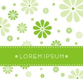Invitation card. A pastel colored invitation card with green and white flower background Stock Photo