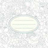 Invitation card. With flower ornament Stock Images