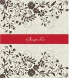 Invitation card. On floral background royalty free illustration