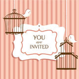 Invitation card. Cute invitation card, vector illustratiuon Royalty Free Stock Photography