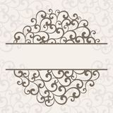 Invitation card. Abstract vertical frame. Invitation card Stock Photo