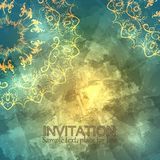 Invitation or card with abstract background. Vector royalty free illustration