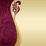 Invitation card. Abstract floral background Royalty Free Stock Photo