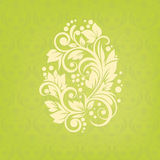 Floral Easter egg background. Modern card for invi Stock Photography