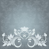 Invitation card with abstract floral background. E Stock Image