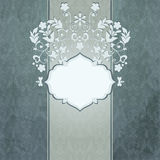 Invitation card with abstract floral background. E Stock Photography