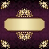 Invitation card. Abstract floral frame Stock Images