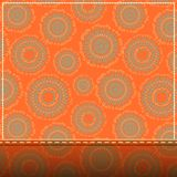 Invitation Card with Abstract Orange Pattern Royalty Free Stock Image