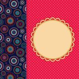 Invitation Card with Abstract Pattern Decoration Part. Stock Image