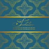 Invitation or card with antique pattern Stock Photo