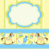 Invitation card for babies with toys Royalty Free Stock Images