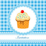 Invitation card for boy Stock Photo