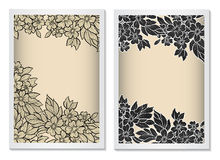 Invitation card template vertical with lace Royalty Free Stock Images