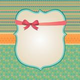 Invitation Card Background, Border Frame Patterns royalty free illustration