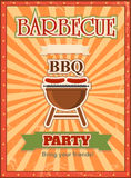 Invitation card on the barbecue design template Royalty Free Stock Photo