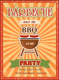 Invitation card on the barbecue design template Royalty Free Stock Images