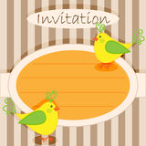 Invitation card-birds Royalty Free Stock Photo