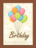 Invitation card for birthday celebration. Stock Images