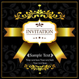 Invitation card black and gold style Royalty Free Stock Photo