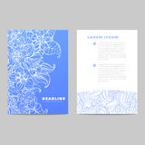 Invitation card with blue pattern Royalty Free Stock Photo