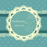 Invitation card with the bride and groom in vintage style. Stock Images