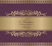 Invitation Card burgundy baroque Stock Photography