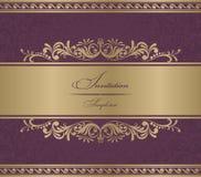 Invitation Card burgundy baroque. Vector illustration Stock Photography