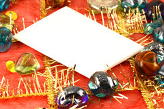 Invitation card on christmas background, new year card Royalty Free Stock Images