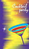 Invitation card for cocktail party. Vector illustration stock illustration