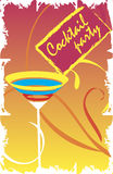 Invitation card for cocktail party Stock Images